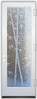 Glass Front Entry Door Sans Soucie Art Glass Bamboo Shoots 3D