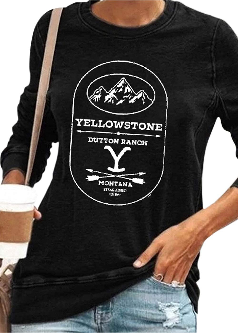 Yellowstone National Park T Shirt Wyoming Grand Tetons Tee Vintage Old Faithful Dutton Ranch Womens