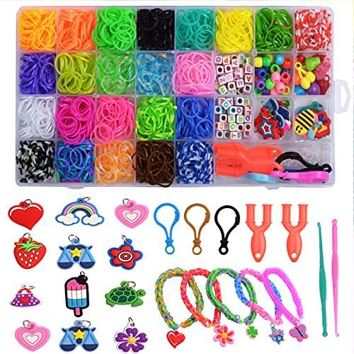 OBEST Caja Pulseras Gomas Bandas , Collar de Pulsera Trenzada de Bricolaje, Regalos Creativos y Educativos, Regalos de Cumpleaños de Navidad