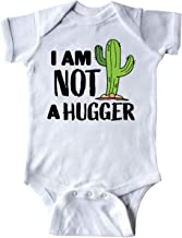 inktastic I Am Not a Hugger with Cactus Infant Creeper
