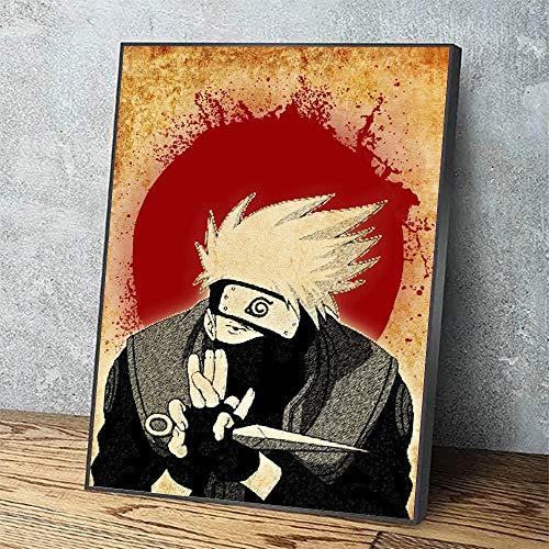 Puzzle 1000 Piezas Naruto Anime japonés Arte Rojo decoración Imagen Regalo Puzzle 1000 Piezas paisajes Gran Ocio vacacional, Juegos interactivos familiares50x75cm(20x30inch)