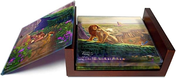 Disney Lion King Return To Pride Rock Simba And Nala Thomas Kinkade For Gifting Collecting Comes With Stylish Modern Wooden Holder