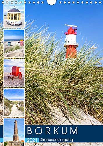 Borkum Strandspaziergang (Wandkalender 2021 DIN A4 hoch)