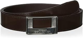 Versace Men 's Casual cinturón, café