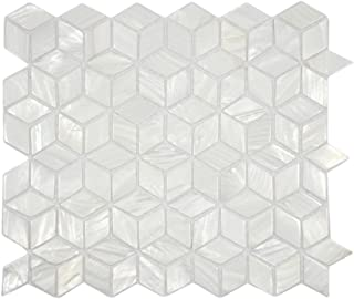 White Cube Pearl Shell Tile 1 piece