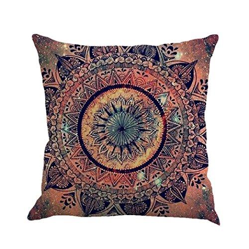 HLHN Indische Mandala Kissenbezüge Rechteck Bohemian Home Sofa/Café/Bibliothek/Buchladen/Partei/Verein Kissen Cover, Größe: 45 x45cm (I)