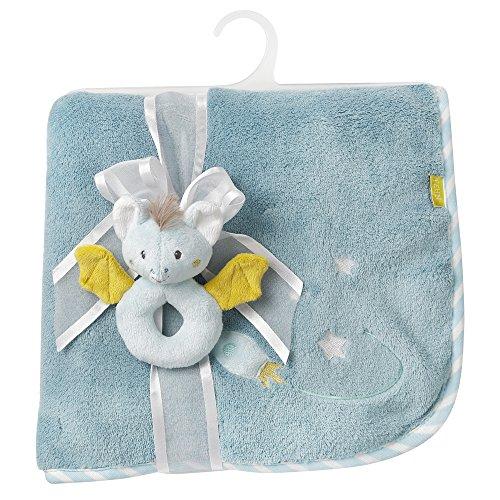 Fehn 065183 Kuscheldecke Fledermaus / Kuschelige Schmusedecke für Babys und Kleinkinder ab 0+ Monaten - zum Kuscheln, als Krabbelunterlage oder Schnuffeltuch, Maße: 100x75cm