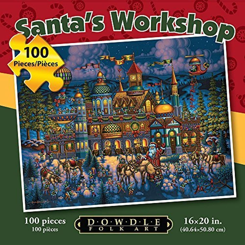 Jigsaw Puzzle  Santa's Workshop 100 Pc By Dowdle Folk Art by Dowdle Folk Art