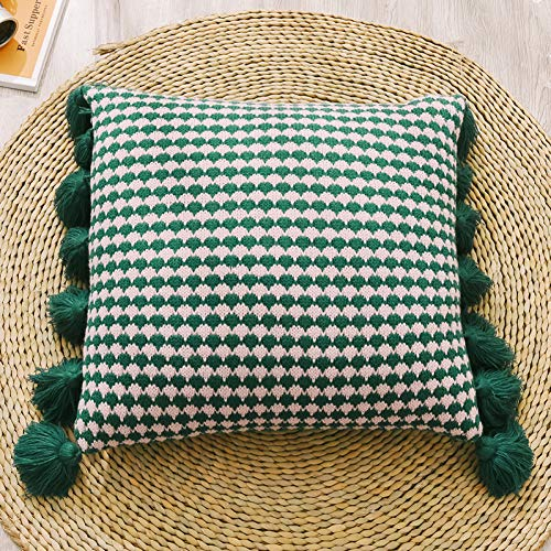 LKHTR Cushion Cover,Knit Tassels Pillow Cover for Home Decoration Sofa Bed (45x45cm)