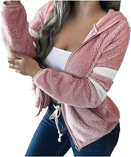 Reooly Sudadera con Capucha y Cremallera Extragrande para Mujer Sudadera con Capucha Suelta Informal
