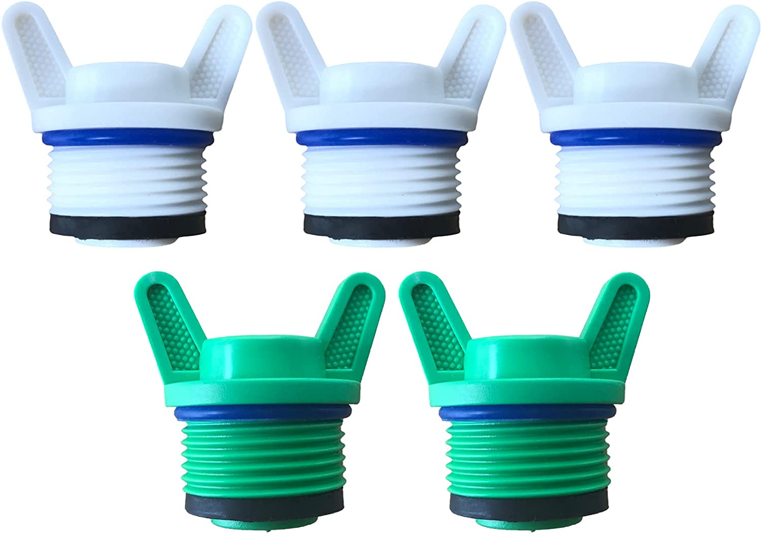 """FUATY 3/4"""" NPT Plug, Male Thread PPR Pipe Plugs and Caps Garden Irrigation Tubing Stopper Drain Plug Compatible with RV Irrigation Water Supply Lines"""