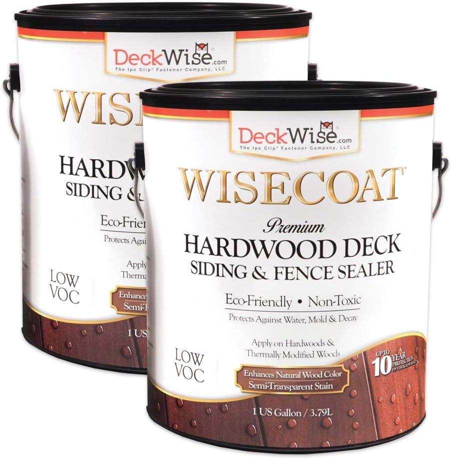 DeckWise New Shipping Free WiseCoat Hardwood Detroit Mall Deck Siding Semi-Transparent Fence