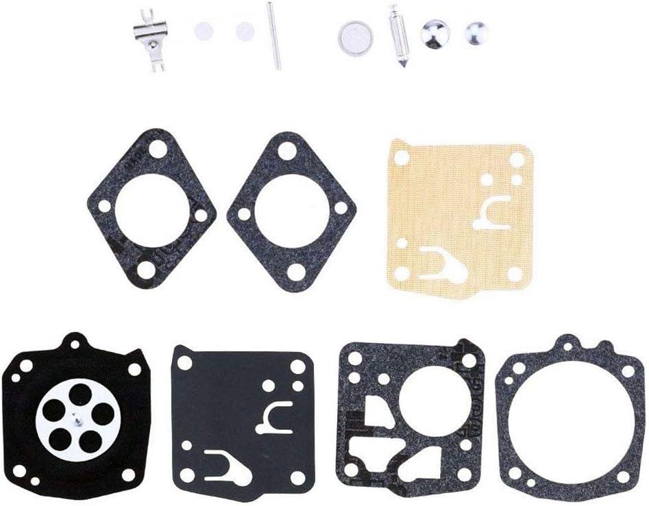 Yingshop 10 Pcs Carburetor Rebuild Kit Compatible for Tillotson RK-23HS RK-17HS HS-4B HS-4D HS-96A HS-125B HS-135B HS-142A HS-151A HS-179A HS-179B HS-195A HS-5C RK23HS RK17HS HS4B HS4D HS96A HS125B