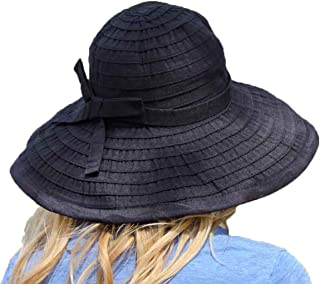 Women's Wide Brim Packable Sun Travel Hat for Large Heads - Ginger