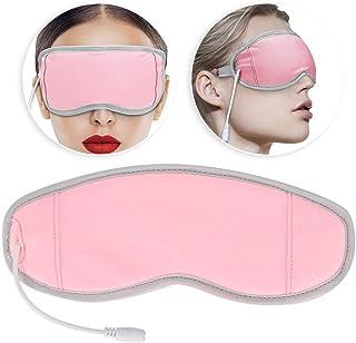 Masajeador de ojos con calor, USB Frío Compresa en caliente Parche para los ojos Alivio de la fatiga ajustable Calentamiento con los ojos vendados Masajeador con compresión de calor Mascarilla (#1)