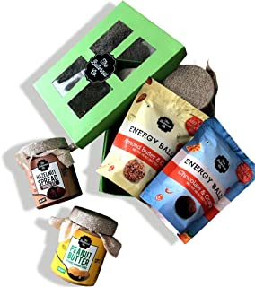 The Butternut Co. Deliciously Healthy Combo Box Chocolate Hazelnut Spread 200g + Organic Unsweetened Peanut Butter 200g + Almond Butter & Oats Energy Ball 85g + Chocolate & Orange Energy Ball 85g
