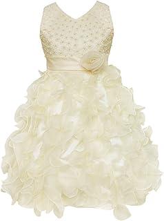 6a9a77a17bc94 freebily Enfant Fille Robe Princesse Cérémonie Fille Robe Demoiselle  d honneur Gala Fête sans Manches