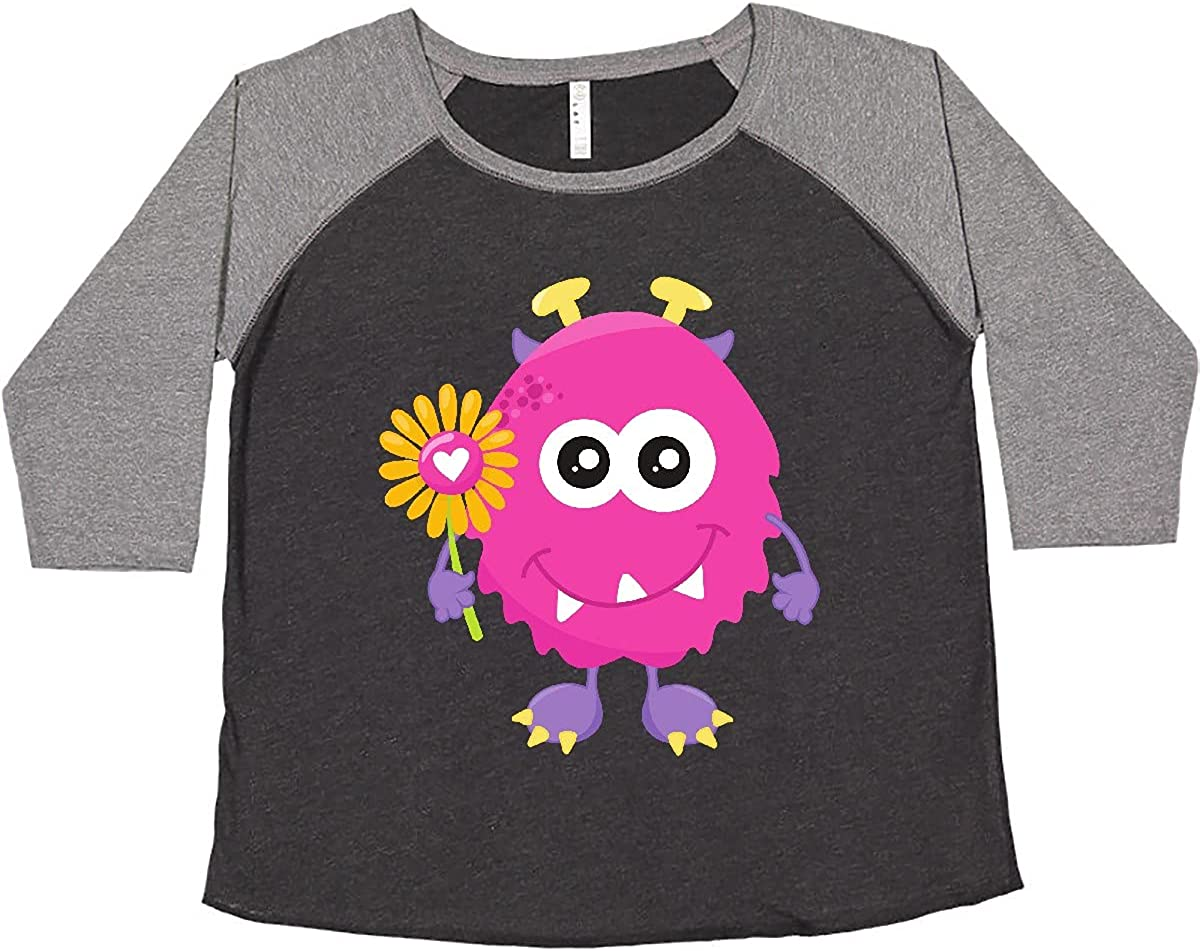 inktastic Spring Monster Pink Flowers Horns P Sales of SALE items from new works Women's New color