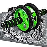 Sportastisch Rotella per addominali 'Extreme Ab Roller' certificata SGS* per esercizi Abs, Attrezzi palestra casa con tappetino ginocchi imbottito e fasce di resistenza, Fino a 3 anni di garanzia*