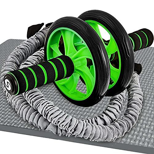 Sportastisch Top¹ Bauchtrainer Extreme Ab Roller mit Knieauflage und Widerstandsbändern | Premium Bauchmuskeltrainer zum Abnehmen und Muskelaufbau | GRATIS E-Book und bis zu 3 Jahre Garantie²
