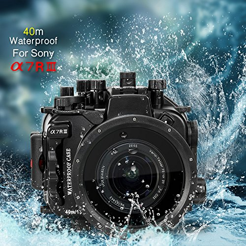 Sea frogs para Sony A7RIII A7III 130 pies / 40m Underwater Camera housing impermeable caso