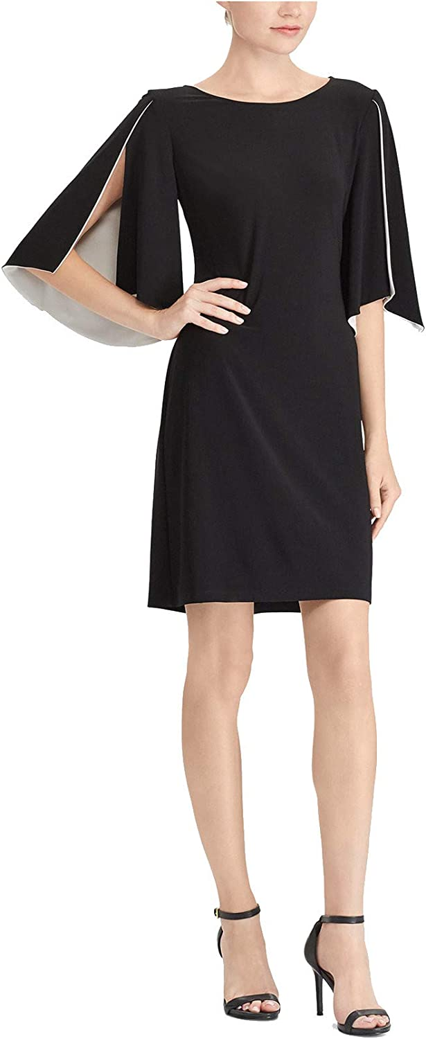 American Living Womens SplitSleeve Contrast Shift Dress