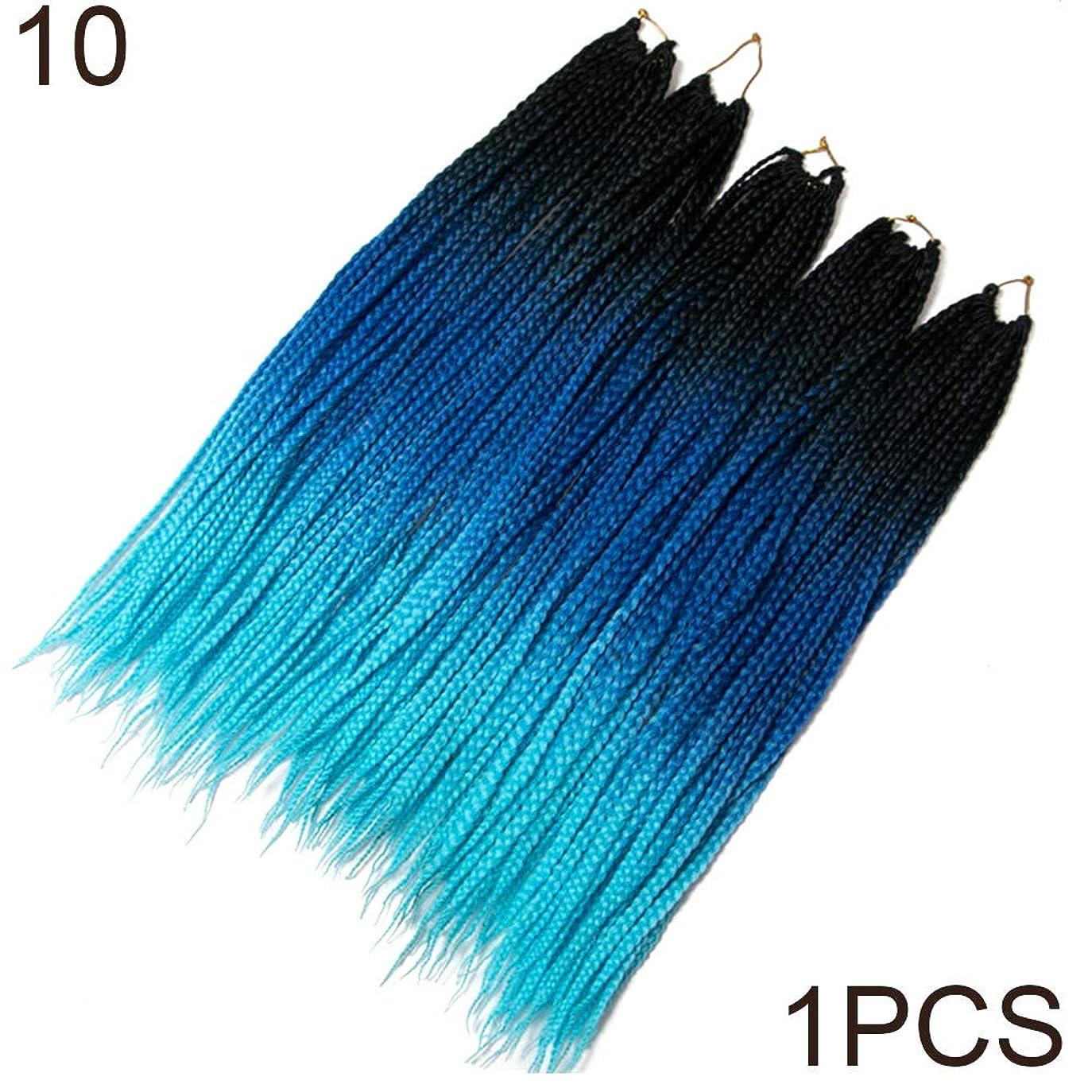 リテラシーかき混ぜる実施するslQinjiansav女性ウィッグ修理ツール60cm長いソフトかぎ針編みツイスト編み合成ヘアエクステンションカラーブロックウィッグ