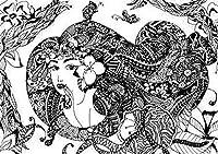 ジグソーパズル1000ピースパズル子供漫画ジグソーパズル教育玩具ギフト白黒コミック女性