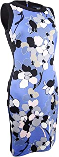 Womens Clarice Floral Print Sleeveless Sheath Dress