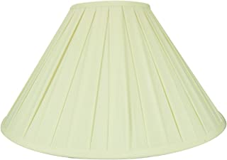 7x20x12 Eggshell Softback Box Pleat Coolie Lampshade with Brass Spider fitter By Home Concept - Perfect for table lamps and some desk lamps - Large, Egg Shell