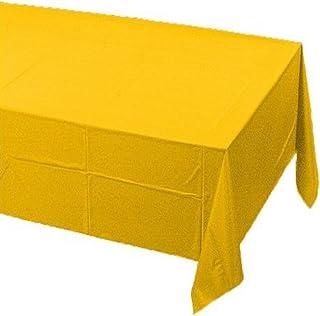 غطاء طاولة مبطن بلاستيك تاتش أوف كولور من كريتيف كونفيرتنج، 137 سم في 274 سم، حافلة مدرسية صفراء
