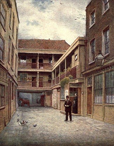 Preisvergleich Produktbild The Poster Corp Philip Norman London Vanished & Vanishing 1905 Old Bell Inn Holborn (from South) Kunstdruck (60, 96 x 91, 44 cm)