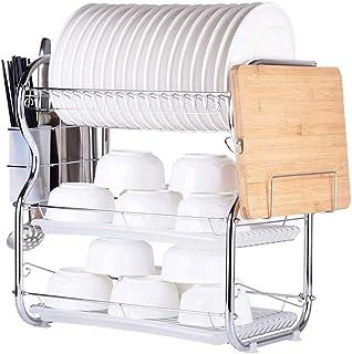rangement et organisation de cuisine Multifonctionnel 3-Tier vaisselle Fournitures de cuisine en acier inoxydable rack Sup...