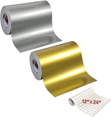 VViViD Standard Gloss Chrome Black Vinyl Wrap Adhesive Film Roll 12 Inches X 24 Inches