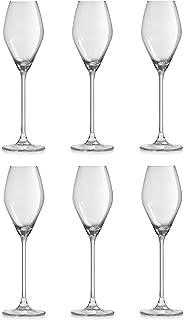 Libbey Verre à champagne Iduna - 20 cl / 200 ml - Lot de 6 - Design élégant - Qualité supérieure - Va au lave-vaisselle