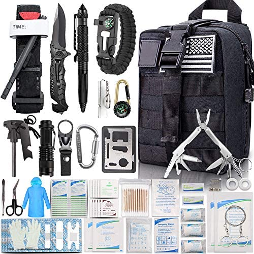 EMDMAK First Aid Kit Survival Kit 276Pcs Tactical Molle EMT IFAK Pouch Outdoor Gear Emergency product image