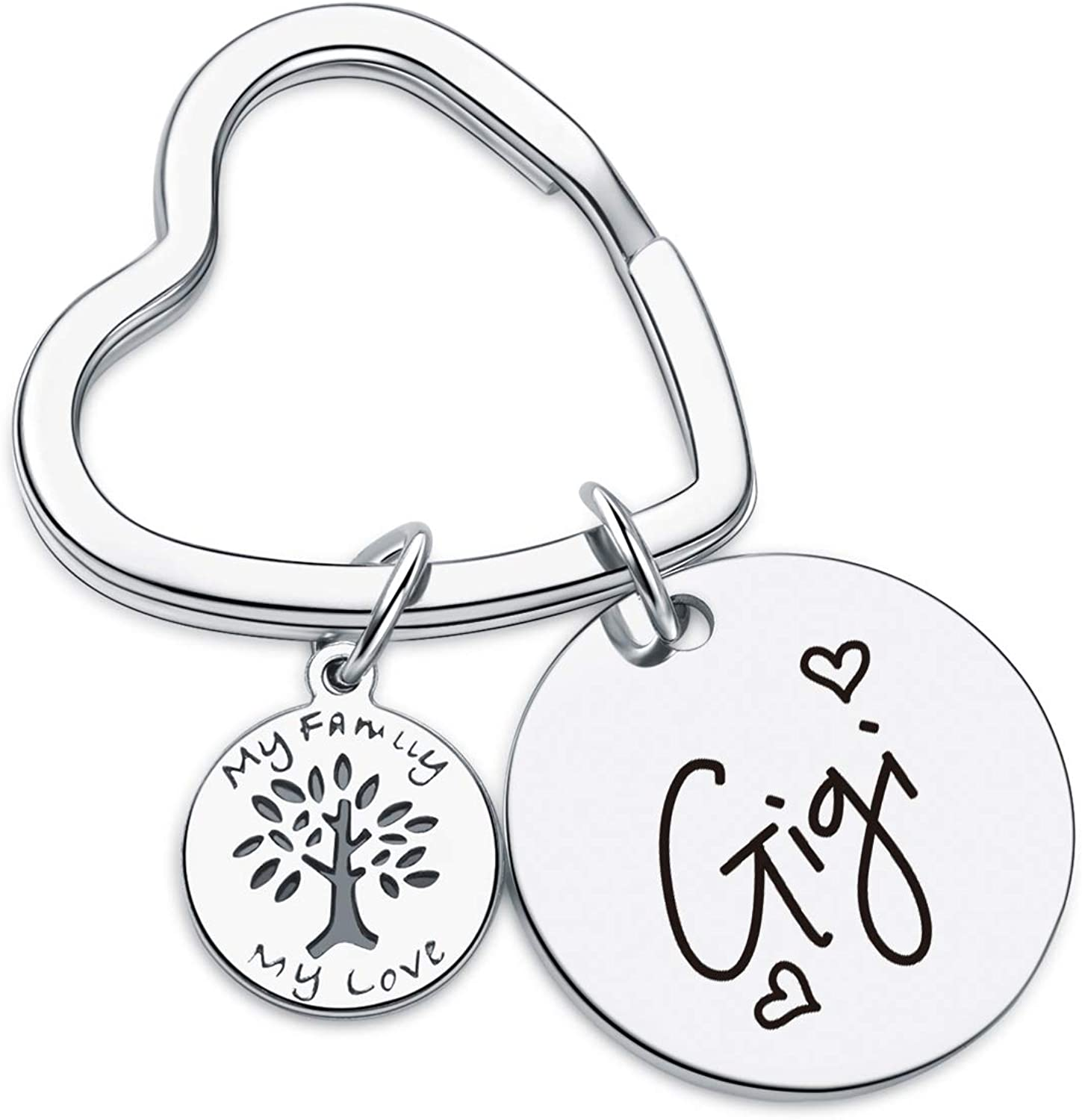 7RVZM Manufacturer regenerated product Gigi Appreciation Outlet ☆ Free Shipping Gift Best Keychain Mothers Day Ever