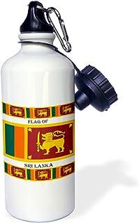3dRose bandera de Sri Lanka-Deportes Botella de agua, 21 oz (wb_211384_1), 21 oz, multicolor