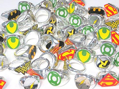 DC Superhero Novelty Power Rings 4 Dozen (48 Rings)
