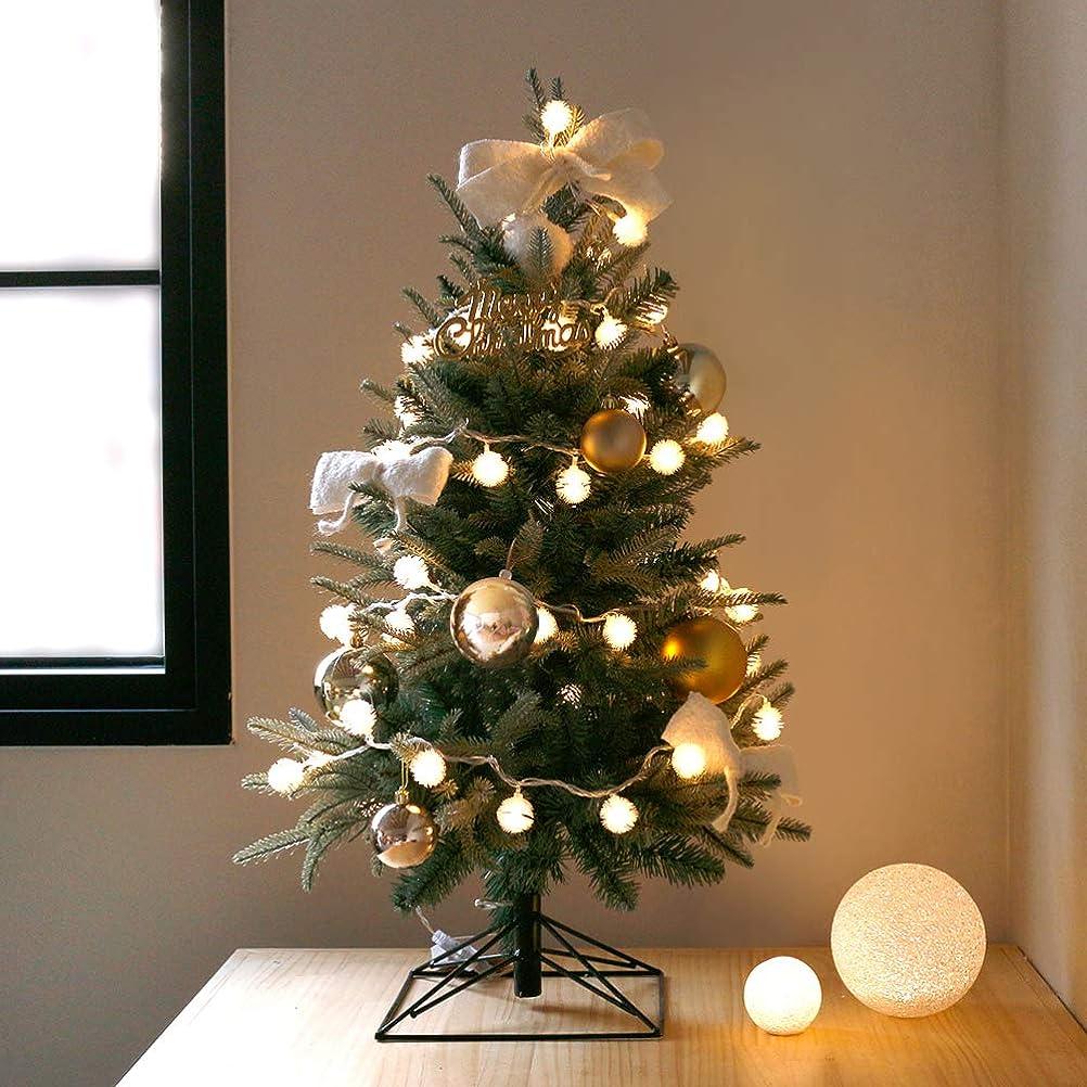 引き出す日常的に命令的【Blooming&me】 送料無料!「数量限定」クリスマス特集 クリスマスツリー 北欧風 おしゃれ スリムツリー デザインツリー 高級クリスマスツリー (ゴールドオーナメントセット)タイプ 60cm 90cm 120cm 150cm (90cm+雪の華 LEDライト)
