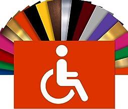 Toiletten gehandicapten, toilet-deurbordje, naamplaatje in reliëf PVC, 15 x 10 cm, keuze uit 18 kleuren Oranje