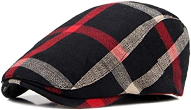 Unisex klassieke geruite baretten petten voor mannen casual katoenen platte pet vrouwen krantenjongenspet