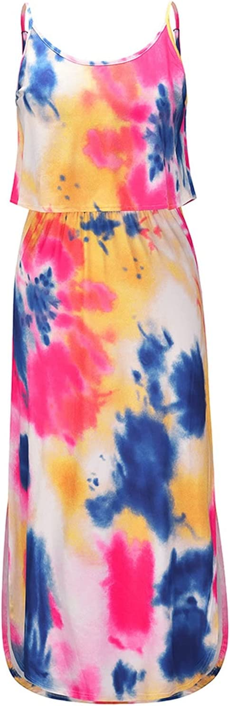XIANGE100-SHOP Summer Layered Boho Dealing Max 71% OFF full price reduction Dress Women Girls S for Teen