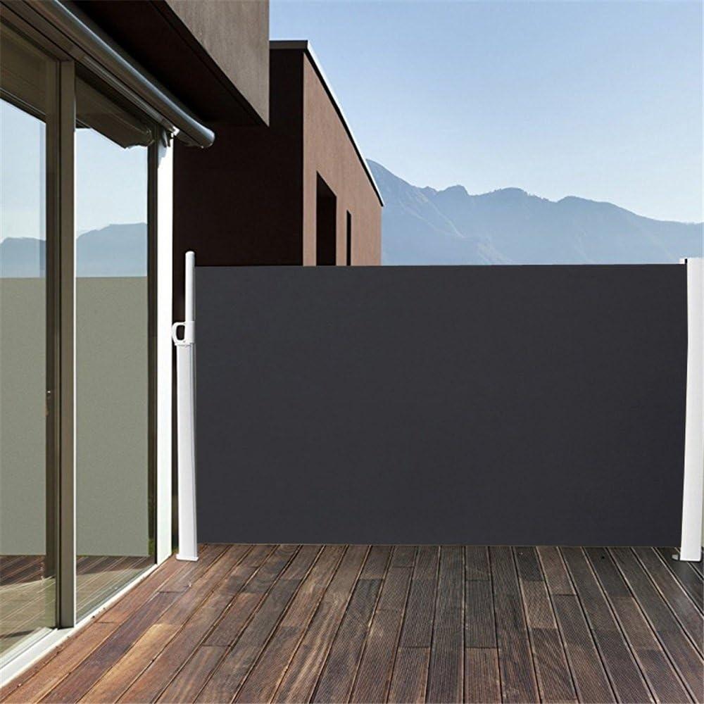 Terrasse 160 x 300 cm, Gris fonc/é HENGMEI Store lat/éral R/étractable Auvent Mural R/ésistante au Soleil Abris Lat/éraux pour Balcon