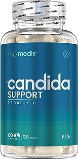 Candida Support Komplex - Premium Kapseln zur Unterstützung bei Hefepilz Infektionen - Probiotika für Darm und Darmflora - Kur & Hilfe bei Darmpilz, Scheidenpilz & Mundsoor - 60 Pilzmittel Tabletten