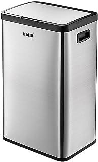 Maxkon 60L Motion Sensor Recycling Bin Kitchen Rubbish Waste Garbage Stainless Steel Trash Bin Silver