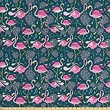Ambesonne Flamingos Stoff von The Yard, exotisches