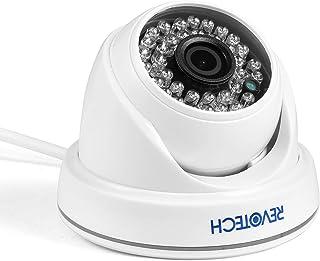 PoE HD 3MP H.265 IP Cámara - Revotech® - 1080P / 2MP para Interior 36 LEDde Cámara de la bóveda de la Seguridad de ONVIF Sistema de la Leva del CCTV del IP de P2P con IR-Corte (I3012-P Blanco)
