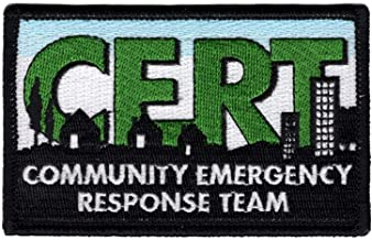 CERT Logo Embroidered Patch Community Emergency Response Team - F 140