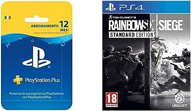 PlayStation Plus Card Hang Abbonamento 12 Mesi Tom Clancy's Rainbow Six Siege, PlayStation 4